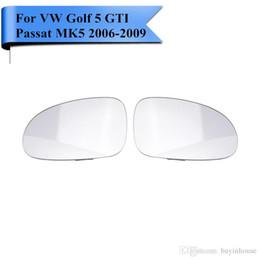 Wholesale Volkswagen Mirrors - 2x Heated Exterior Door Mirror Glass For VW Golf 5 GTI Passat b5.5 MK5 R32 Rabbit Seat Skoda 2006 2007 2008 2009 Car Styling #P411