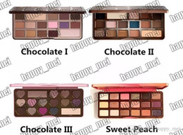 Wholesale Colors Eyeshadow - Free Shipping ePacket New Makeup Eyes Chocolate Bar Sweet Bon Bons Semisweet Sweet Peach Eyeshadow Palette!4 Different Colors