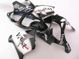 Wholesale West Motorcycle Body Kit - New Aftermarket body parts motorcycle ABS fairing kit for Kawasaki Ninja ZX9R 02 03 fairings set ZX9R 2002 2003 9r black white west