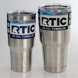 Wholesale Kid Cars Wholesale - New RTIC Cups Tumbler Cups Car Cups Stainless Steel Sharp as YT Mugs 30oz 20oz Cooler Bilayer Insulation Water Bottles Mugs free shipping