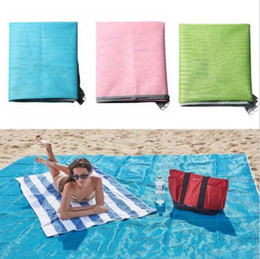 Wholesale 200 cm Sandless Pads Colors Sand Free Mat Blanket Camping Mat Outdoor Picnic Foldable Mattress Camping Cushion Beach Mat CCA6607