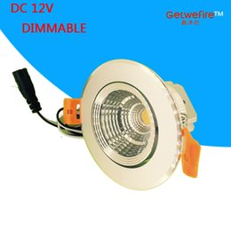 Wholesale Led Puck Ceiling Lights - silver shell 2.5inch DC 12V 3w COB epistar led , led ceiling light,led puck spotlight, dimmable pure white or warm white.