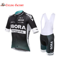 Wholesale Bicycling Bibs - 2017 Bora Cycling Jerseys bib shorts set Bicycle Breathable sport wear cycling clothes Bicycle Clothing Lycra summer MTB Bike White & Brown