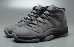 Wholesale Aa Boxes - With Box Air Retro 11 XI Wool Black Dark Grey Silver Men Basketball Shoes AA High Quality Size USA 8 13 Wholesale FreeShipping Sneaker