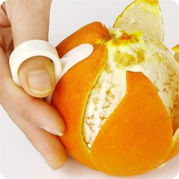 Wholesale Vegetable Fruit Peeling - Candy color Orange Peel Tools Mould Hand Open Orange Template Peel Orange Apparatus Fruit Tool Vegetable Tools
