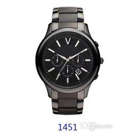 Wholesale Ceramic Chronograph Watches - New Quartz Movement Watch Chronograph AR1451 AR1452 watches