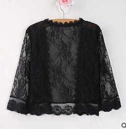 Wholesale Thin Transparent Computer - Wholesale- Summer cardigan womens prevented bask transparent shawl fashion hollow out shawl short sleeves lace joker thin coat Female