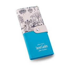 Wholesale S5q Cell Phone - S5Q Women Large Capacity Leather Printing Card Holder Wallet Long Clutch Handbag AAAGJB