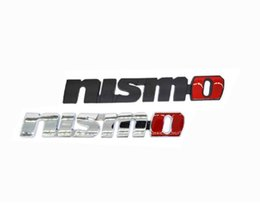 Wholesale Chrome Auto Decal Badge - 3D Nismo Metal Car sticker Badge black silver chrome Emblem Decal decoration Sticker Auto Accessories car styling