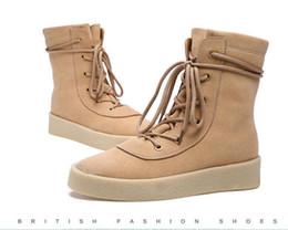 Wholesale Desert Boot Green - Handmade Men Desert Ankle Boots Kanye West Suede Shoes Genuine Leather Man Shoes Black Vintage Designer Chelsea Boots