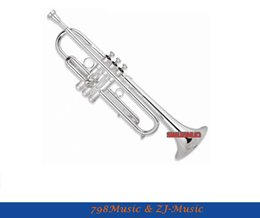 Wholesale bb bears - Wholesale- Bb Trumpet EVA Series Model With Case-Bore Size 11.68mm-Bell DIA.127mm Silver Plated