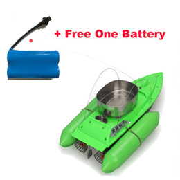Wholesale Electric Boat Remote Control - Wholesale-Free Shipping!New T10 Bait Boat Lure Fishing RC Anti Grass Wind Remote Control+6400mAh Battery