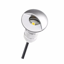 Wholesale Recessed Patio Lighting - Wholesale- Recessed Floor Lighting Outdoor Stair Lights Led Step Lamp Underground 12v Low Voltage Patio Garden Decoration Spotlights F101A