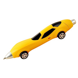 Wholesale Novelty Car Pens - Wholesale-6Colors Novelty Classic Toys Cars Ballpoint Pens Diecasts & Toy Vehicles Multicolor Cars Toys