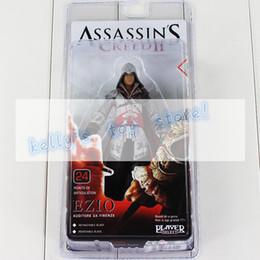 Wholesale Assassin Creed Ezio Toy - pvc figure Hot Assassin's Creed PVC figure Black Flag Connor Haytham Kenway Haytham Kenway Altair Ezio Master Assassin Toy