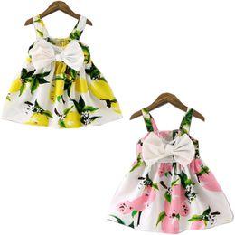 Wholesale Cheap Baby Items - Cheap Summer Dress 2017 Hot Sale Item Harness Dress Fruit Children Clothing Cute Baby Girl Princess Dress