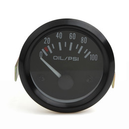 Wholesale Gauges Psi - New 52mm Universal Auto Car Oil Pressure Gauge 2inch 0-100 Psi Car Oil Press Gauge Meter LED Oil Pressure Gauge Meter CEC_544
