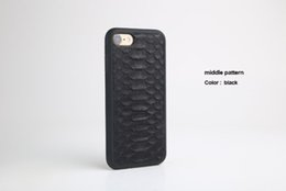 Wholesale Iphone Leather Snake - Natural Real Genuine Leather Cover Case For iPhone 7 6 6S Plus 5 SE Case 3D Python Skin Snake Design custom name Phone Case