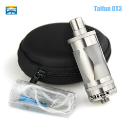 Wholesale Taifun Gt Atomizer - Wholesale-Taifun GT III RDA RBA E Cigarette Atomizer Clone Pyrex Glass Tank Taifun gt3 Vaporizer fit 510 Box Mods VS EI BAAL kayfun v5 rda
