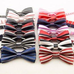 Wholesale Performance Magic - 14 Style Choose Children Accessories Kids Party Tie Bow Striped Baby Boys Girls Performance Magic Tie Bows New Bowknot 50pcs lot A6637