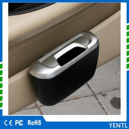 Wholesale Garbage Bins - YENTL Newest Fashion Mini Car Auto Rubbish Dustbin Trash Can Garbage Dust Case Box Car Storage Case Bin Car Accessories plastic