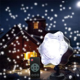 Wholesale Lighted Christmas Snowflakes - Romantic Snowfall Christmas Laser Projector Light Outdoor Star Snowflakes Outdoor LED Stage Lamp Wedding Landscape Garden Light