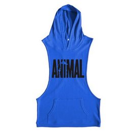 Wholesale Hooded Singlets - Fitness Tank Top Men Bodybuilding 2017 Clothing Fitness Men Shirt Crossfit Vests Cotton Singlets Muscle Top Punisher
