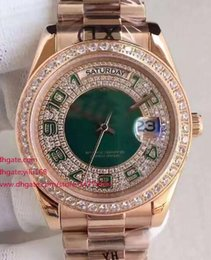 Wholesale Mens Diamond Dress Watch - Mens White dial High Quality Asia 2813 Rose gold watches Men's President 118348 Dress Automatic Watches Christmas Anniversary Diamond