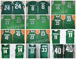 Wholesale Draymond Green - Michigan State Spartans College Jersey 33 Earvin Johnson 45 Denzel Valentine 23 Draymond Green 11 Keith Appling 14 Gary Harris Green