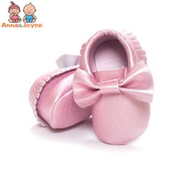 Wholesale Kind Baby Shoe - Spring and Autumn Paragraph Baby Shoes Fashion Bow Tassels Soft Bottom Toddler Shoes Three Kinds of Size TWS0217