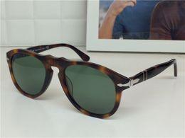 Wholesale pilot glasses frames - new persol sungasses PE649 classical model aviator design glass lens top quality men designer sunglasses with case UV400 lens