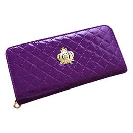 630db0ba2fa Gros-femmes matelassé long portefeuille sac à main femmes Portefeuilles  Avec Coin Bag Prune fleur pochette
