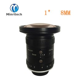 Wholesale Manual Focus Cctv Lens - Wholesale- 5mp Machine Vision Lens 1 Inch Manual Type C Mount Low Distortion Fixed Focus 8mm F1.4 CCTV Camera Lens