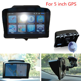 Wholesale Navigation Gps Price - 2017 GPS Universal Sunshade Portable Anti Glare Screen Sun Shield Visor Hood For 5 inch Car GPS Navigation Best Price CIA_506