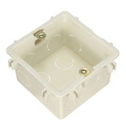 Wholesale Parts Outlet - 86 118 Cassette Universal White Wall Mounting Box for Wall Switch and Plastic Enclosure Socket Back Box outlet