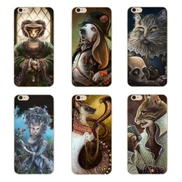 Wholesale Iphone 4s Case Princess - Cartoon Cat Face Princess Warrior Clear Hard Plastic PC Cell Phone Case for iphone 8 7 6S Plus 5S 5C 4S Back Cover