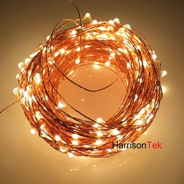 Wholesale Long String Led Christmas Lights - Wholesale-The Longest Copper Wire String Lights 165ft 50M 500 Mini invisible LED Starry Fairy Light for Holiday Wedding Party Garden decor