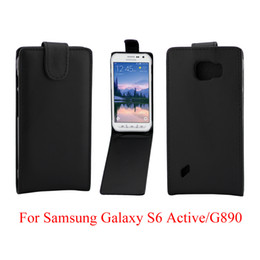 Wholesale Galaxy Active Cover - Phone Bags Cover For Samsung Galaxy S6 Active G890 phone case Back coque PU leather Flip Vertical Up-Down Open skin pouch