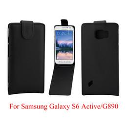 2019 cassa verticale samsung s6 Custodia in pelle per Samsung Galaxy S6 Active G890 Custodia in pelle sintetica per Samsung Galaxy S6 Active con apertura verso il basso cassa verticale samsung s6 economici