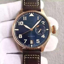Wholesale Automatic Pilots Watch - AAA+ top brand pilot watch mens brown leather band automatic luxury wristwatch simple elegante simple black dail hot sell free shipping
