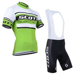 Wholesale Scott Cycling Bib Sets - SCOTT Cycling Jersey Short Sleeve Bike Clothes Bicycle Clothing Summer ciclismo ropa hombre Maillot sportwear Bib set D1112
