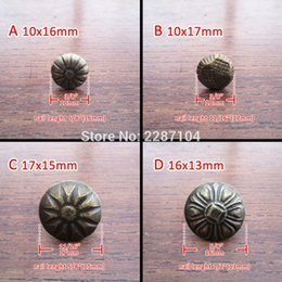 Wholesale Furniture Chests - Wholesale- 50pc Antique Brass Vintage Upholstery Nail Jewelry Chest Box Furniture Sofa Decor Tack Stud Pushpin Hobnail Large Head Doornail