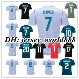 Wholesale Bale Real Madrid - 17 18 Real Madrid home soccer jersey 2017 RONALDO BENZEMA BALE KROOS SERGIO RAMOS MODRIC ISCO NAVAS ASENSIO MARCELO Away 3rd football shirts
