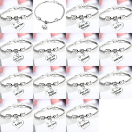 Wholesale Bridesmaid Mother - Wedding Jewelry Bridal Bracelet MOM Mother of the BRIDE BRIDESMAID MAID OF HONOR Vintage Crystal Heart Retro Bracelet 161939