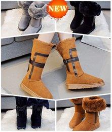 Wholesale Heel Designer Charm - Free shipping 2017 New Shoes Women Boots Designer Ladies Winter outdoor keep Warm Fur Boots Waterproof Women's Snow Boots