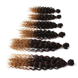 Wholesale Curly Weave For Braiding - New style brazilian hair weave bundles synthetic braiding hair extension ombre brown burgundy color peruvian vierge hair for black women