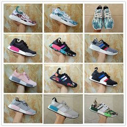 Wholesale Newest Sneakers Cheap - 2017 Newest Cheap NMD Sneakersnstuff Camo R1 Primeknit R2 Ultra Boost Fashion Casual Sports Running Shoes KAWS NMDs Sneakers Size 36-45