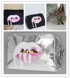 Wholesale Ups Christmas Shipping - Drop Ship Christmas gift Kylie Jenner Make Up Bag holiday edition Birthday Collection Makeup Bag Kylie Lip Kit Bag High Quality Free Ship