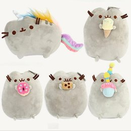 "Wholesale Cat Wholesale - 10PCS LOT 5 Different styles 6"" 15CM Pusheen Cookie & Icecream & Doughnut Cat Plush Stuffed Animal Doll Toy Free Shipping"