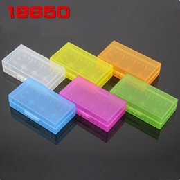 Wholesale Hard Plastic Storage Containers - 200pcs Hard Plastic Transparent Case Cover 18650   16340   17500 CR123A Battery Storage Box Batteries Container Bag Case Organizer Box